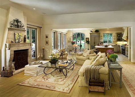 Mediterranean Living Room Interior Design Classic Mediterranean Living Room Design With Fireplace