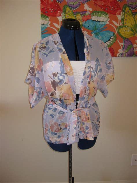 kimono jacket pattern diy one hour a day diy kimono style top jacket
