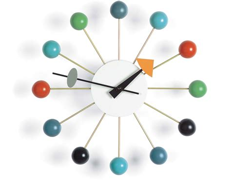 George Nelson by George Nelson Clock In Multicolor Hivemodern
