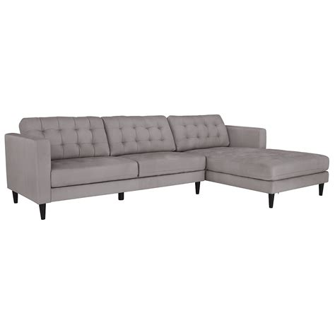 microfiber sectional sofas with chaise city furniture shae light gray microfiber right chaise