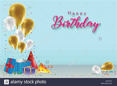 Happy Birthday Banner Card Template by Happy Birthday Background Template With Balloons Gift