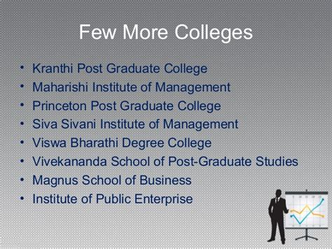 Part Time Mba Colleges In Hyderabad by Mba Colleges In Hyderabad Way2college