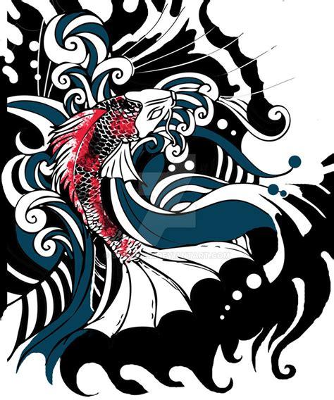 japanese koi tattoo wallpaper colorful japanese koi by solartez on deviantart