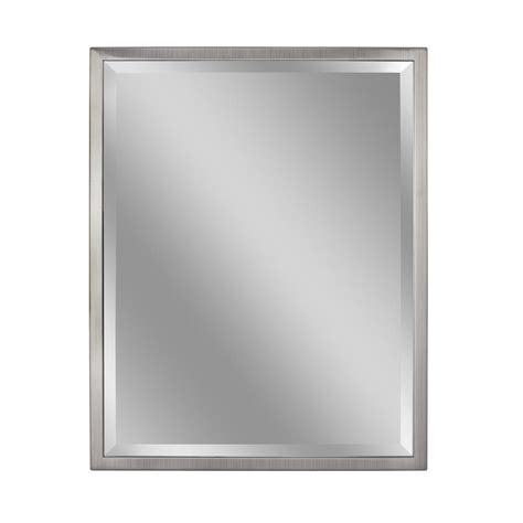 30 x 40 bathroom mirror deco mirror 30 in w x 40 in h classic 1 in w metal