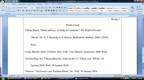 mla format work cited template best photos of 2012 mla format works cited mla format