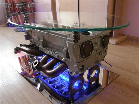 Engine Glass Coffee Table Coffee Table Made From Mercedes Engine With Glass Top