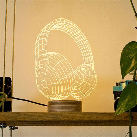 bulbing headphones modern led lamp groovy decorative