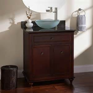 vessel bathroom vanity 60 quot terrence vessel sink single vanity walnut bathroom