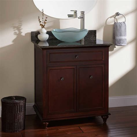 60 quot terrence vessel sink single vanity walnut bathroom