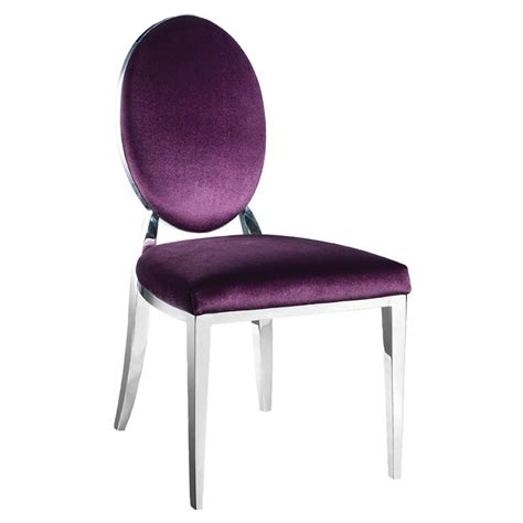 purple bedroom chair purple oval back dining chair contemporary upholstered