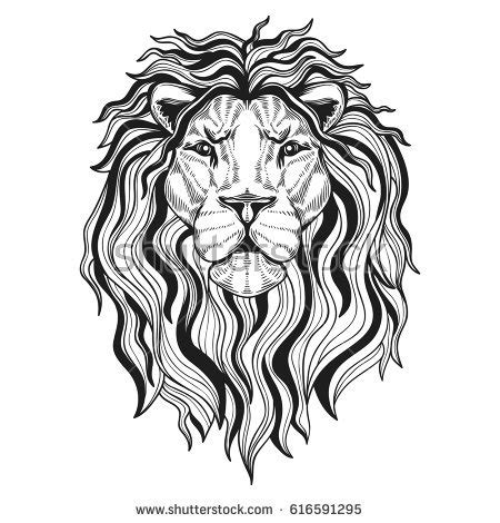 lions head your design stock vector 616591295 shutterstock