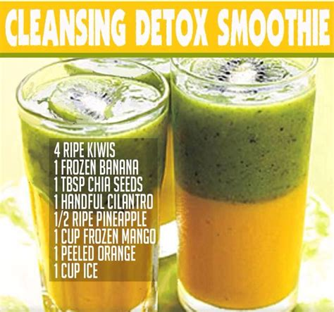 Detox Smoothie Recipe Dr Oz by Cleansing Detox Smoothie Trusper