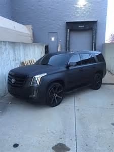 cadillac escalade obsidian black brushed metal with