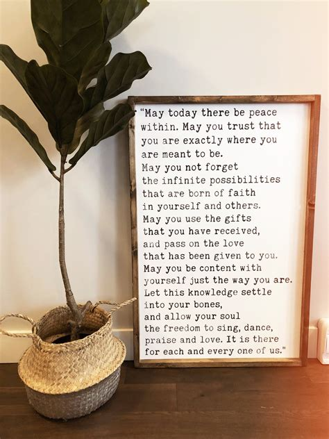 maya angelou quote modern style wood sign rustic