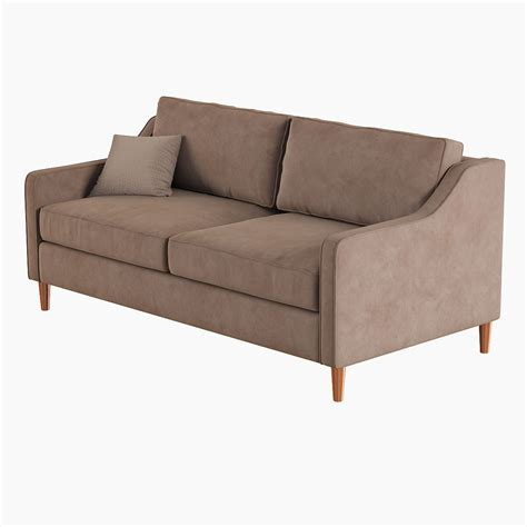 west elm paidge sofa 3d model max obj fbx cgtrader