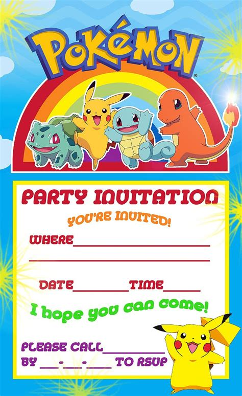 printable birthday invitations free printable pokemon birthday party invitations party