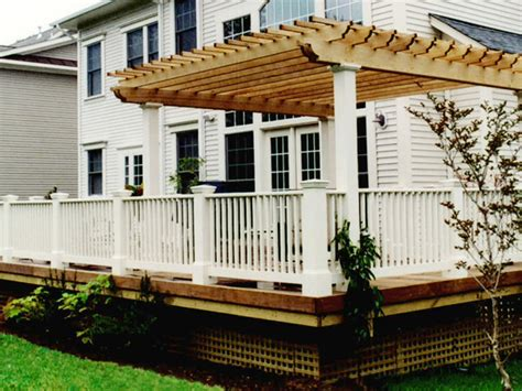 wood deck with pergola cedar pergola and wood deck contemporary deck other by land design inc