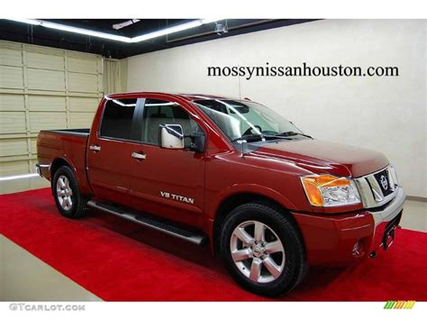 nissan truck titan red 2008 nissan titan red 200 interior and exterior images