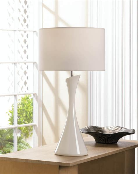 koehler home decor sleek modern white table l wholesale at koehler home decor