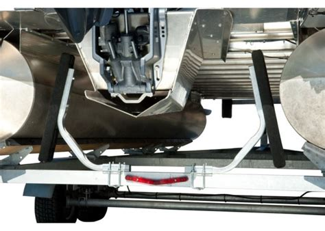 tritoon boat trailer loading guides ce smith bunk style guide ons for pontoon boat trailers