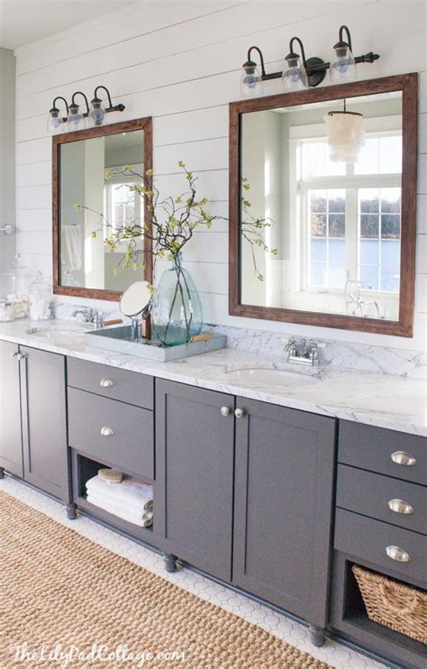master bathroom mirror ideas lake house master bath makeover the lilypad cottage