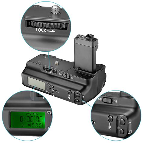 Lcd Canon 500d battery grip w lcd monitor ir remote controller f canon