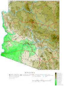 arizona map arizona contour map