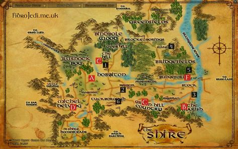 lotro old forest map explorer of the shire deed farms sights of the shire