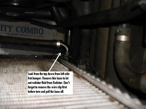 drain plug radiator flush diy    xoutpostcom