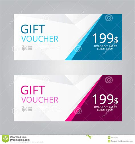 vector design for gift voucher coupon stock vector