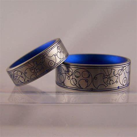 gallifreyan wedding rings dr who language cool fandom