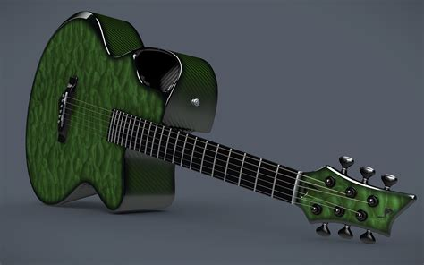 emerald  carbon acoustic guitar  model cgtrader