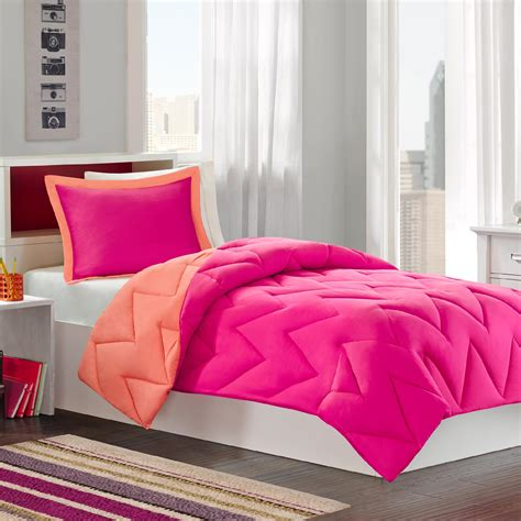 raspberry comforter colormate raspberry coral reversible mini bed set 3