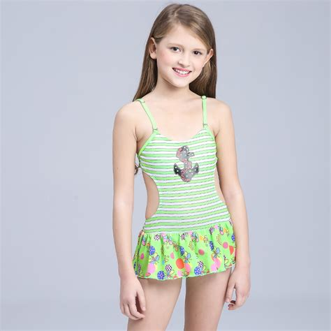 young girls swimwear age 13 2016 girl stripe swimsuit one piece swimsuit for kids girl