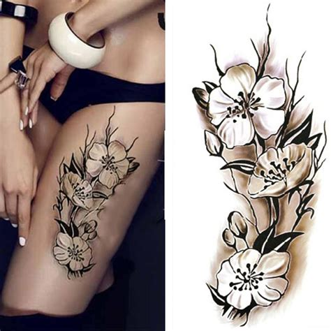 tattoo flower mural sexy women temporary tattoo plum blossom waterproof tattoo