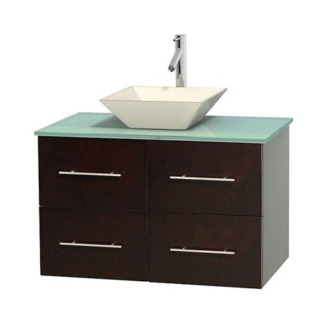 Green Vanity Top by Wyndham Collection Centra 36 In Vanity In Espresso With