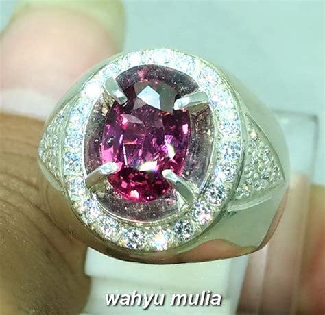 Naturall Batu Cincin Garnet by Batu Cincin Purplish Pink Garnet Ceylon Asli Kode 934