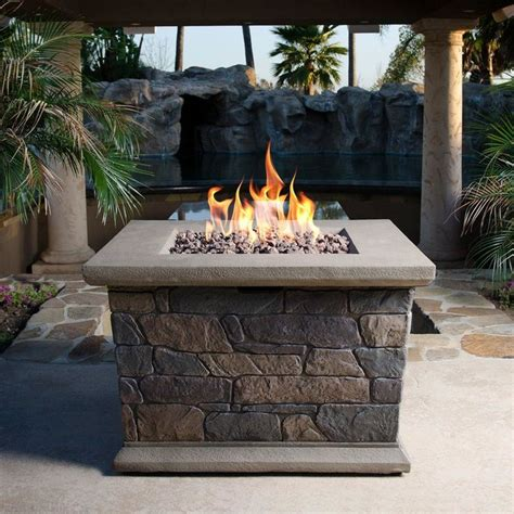 Bond Firepit Bond Manufacturing Outdoor Pits Corinthian 34 In Square Envirostone Contemporary