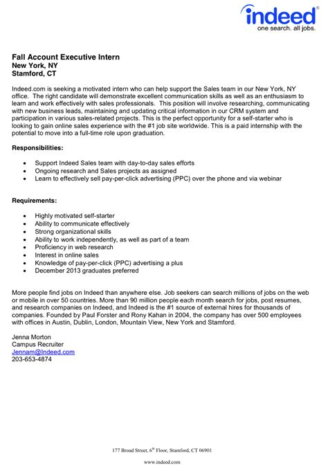 Cover Letter Sle Internship by Fordham Career Services Fall Internships Available