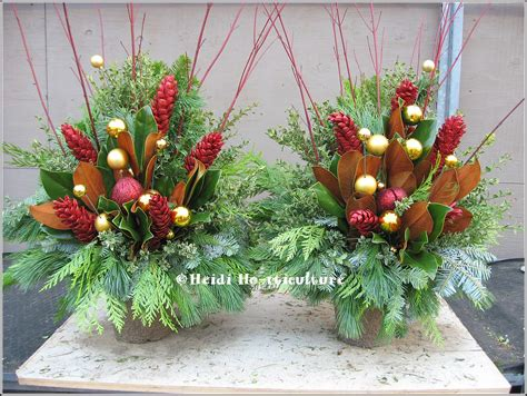 christmas decoration for urn heidi horticulture outdoor urn container one sided