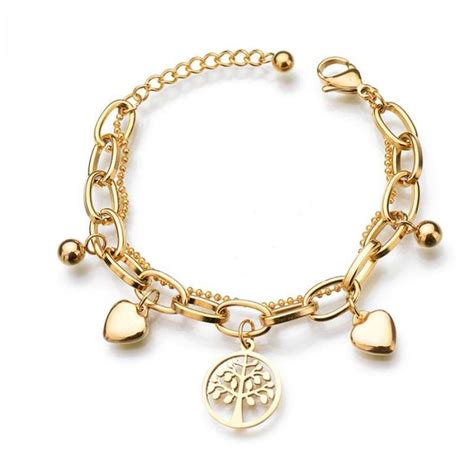 Charm Gold gold charm bracelet tree of charm bracelet gold