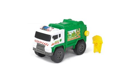 motorized light track dickie toys light and sound motorized garbage truck