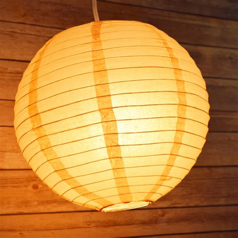 How To Make Circle Paper Lanterns - paper lantern even ribbing hanging light not