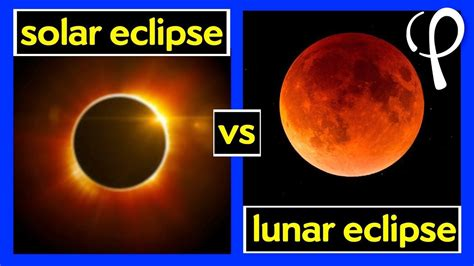 what s the difference between a solar and lunar eclipse