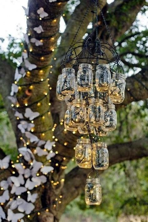 Mason Jar Home Decor Ideas by 40 Stylish Garden Chandelier Ideas Bored Art