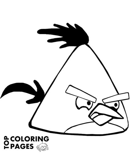 angry birds winter coloring pages angry bird to print or download for free
