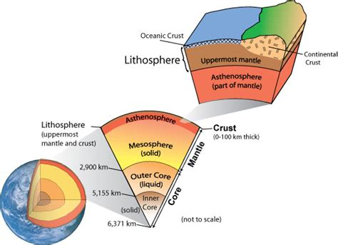 section of the lithosphere that carries crust leyers of the earth thinglink