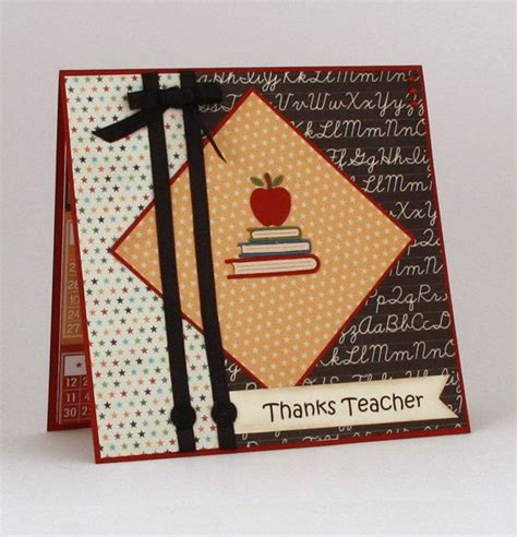 Handmade Cards For Teachers - thank you handmade card thanks card