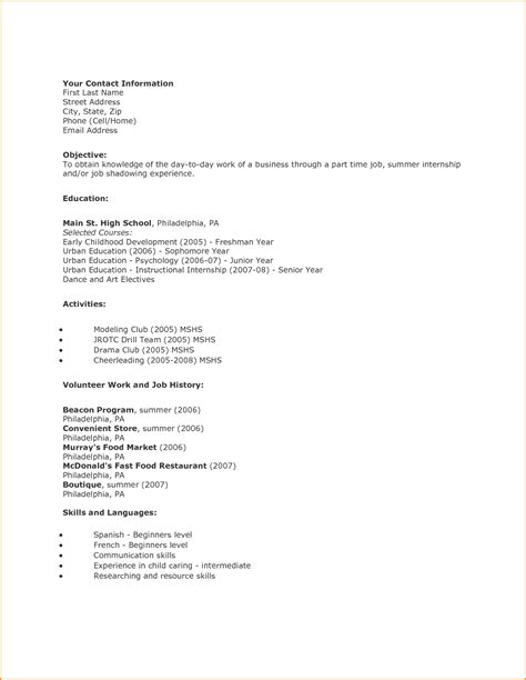 easy resume examples printable templates free