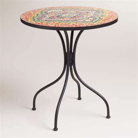 Mosaic Bistro Table Medallion Cadiz Mosaic Bistro Table For The Home Bistro Tables Cadiz And Bistros